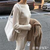 帆布包大容量極簡風字母側背簡約手提女包素色托大包 愛麗絲精品
