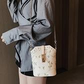 小包包女2021新款韓版清新森系蕾絲包ins百搭單肩斜跨女包 「雙10特惠」