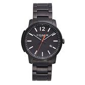 COACH Men Bleecker時尚腕錶/黑面x黑鋼/14602003