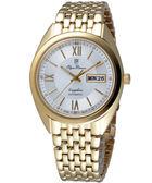 Olympianus 羅馬時尚機械腕錶-金 8972AMK