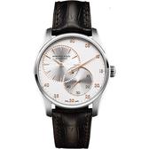 Hamilton 漢米爾頓 JAZZMASTER 分秒必爭時尚機械腕錶-銀x咖啡/42mm H42615553