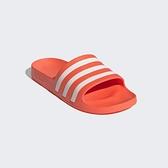 Adidas Adilette Aqua [FY8096] 男女 涼鞋 拖鞋 運動 休閒 舒適 輕量 海灘 游泳 橘白