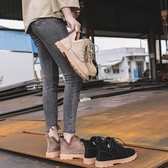 裸靴 英倫復古馬丁女冬季新款學生繫帶短靴潮百搭女鞋 - 歐美韓熱銷