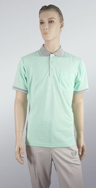 男雙色拼接POLO衫