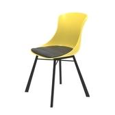 (組)特力屋萊特塑鋼椅-金屬腳架+黃椅背+灰座墊