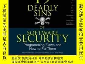 二手書博民逛書店19罕見Deadly Sins Of Software SecurityY364682 Michael How