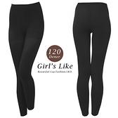 【露娜斯】120丹尼厚地階段著壓設計九分褲襪【深灰】台灣製 LD-9001