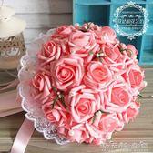 仿真韓式手捧花新娘手捧花束仿真玫瑰婚禮拍攝道具結婚婚慶用花 晴天時尚館