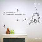 ☆阿布屋壁貼☆愛情鳥B - M尺寸  壁貼