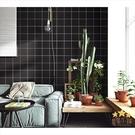 【黑色格子】45CMX10M 自黏貼 文化石 壁貼 牆貼 牆紙 壁磚 貼紙 壁紙 波音軟片