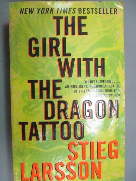 【書寶二手書T6/原文小說_GVW】The Girl With the Dragon Tattoo_Stieg Larsson