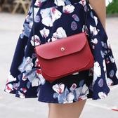 肩背包純色側背包-百搭迷你多用途磁扣女斜背包4色73pp399【時尚巴黎】
