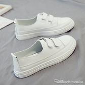 春季新款小白女鞋淺口平底單鞋休閒百搭一腳蹬懶人潮鞋夏季 阿卡娜