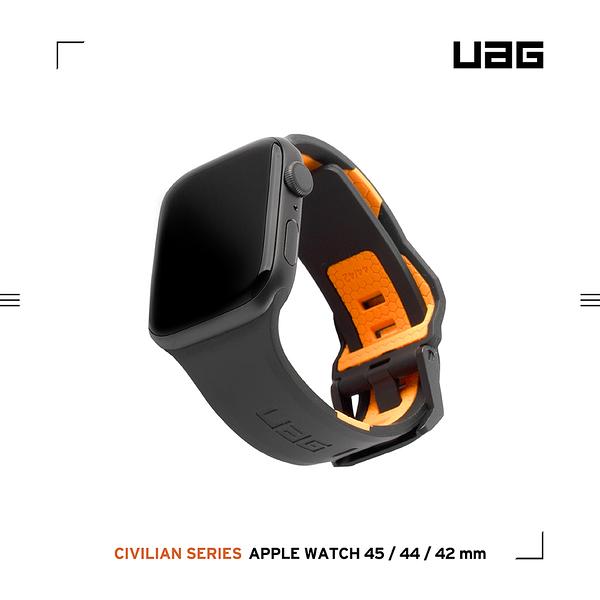 UAG Apple Watch 42/44/45mm 簡約舒適錶帶-黑