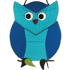 【波克貓哈日網】開運貓頭鷹 ◇ 置物掛飾 ◇  《藍色》和風拼布掛飾~~放信件或帳單