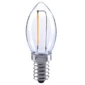 特力屋 LED燈絲燈泡 0.45W 燈泡色 E12 蠟燭型 110V