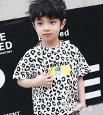 童裝男童短袖t恤2019新款夏裝韓版中大童洋氣豹紋兒童圓領上衣潮 aj11197『科炫3C』