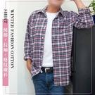 【大盤大】(S01323) 男 法蘭絨 長袖襯衫100%純棉 口袋格紋格子 輕刷毛 上班薄外套【2XL號斷貨】