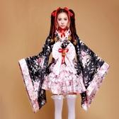 和服女極樂凈土跳舞蹈改良和服女lolita裝女仆cosply動漫cos女童裝櫻花 嬡孕哺