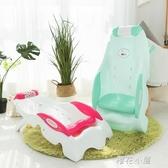 1-10歲兒童洗頭躺椅小孩洗頭神器幼兒洗頭床寶寶洗頭椅洗發椅折疊QM『櫻花小屋』