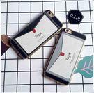 【紅荳屋】商務創意信封蘋果6s/iPhone7plus條紋皮質軟矽膠防摔保護套新款手機殼