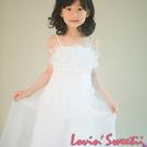 【Lovin' Sweetii】氣質小公主摺式高腰童洋裝限量1款-雪白色