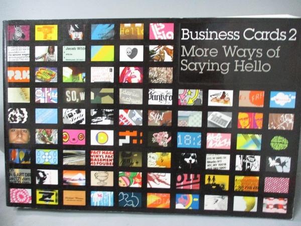 【書寶二手書T4/設計_MEX】Business Cards 2-More Ways of Saying Hello_N