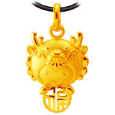 甜蜜約定金飾-福氣十二生肖龍-黃金墜子 生肖金飾 招財 開運