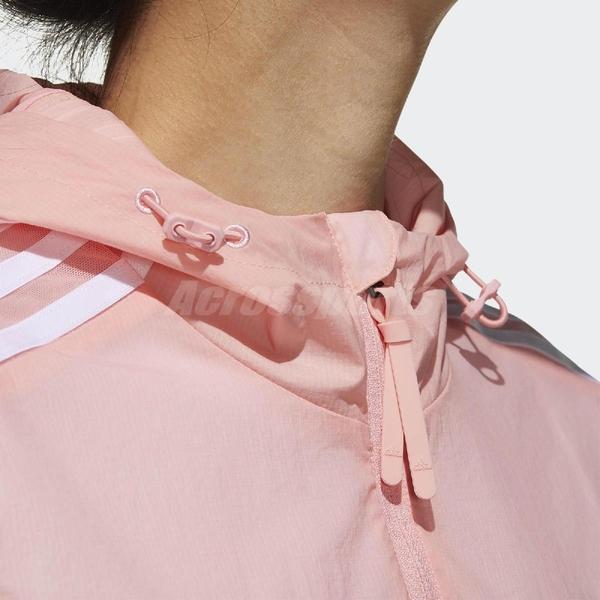 adidas 外套 Windbreaker 3S Jacket 粉紅 白 女款 風衣 運動 訓練 【ACS】 FT2883