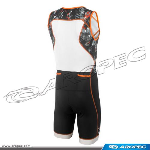 男款  Tri-Slick 無袖短褲 連身三鐵競速衣 (前開式  )    SS-3TS-115P-M-Geom    【AROPEC】