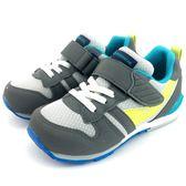 《7+1童鞋》日本月星 MOONSTAR 魔鬼氈  透氣  機能  運動鞋  C438  灰色
