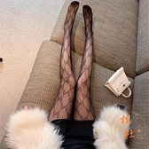 絲襪女薄款性感蕾絲連褲襪縷空漁網襪【橘社小鎮】