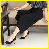 媽媽裝夏裝薄款褲子40-50歲中老年寬鬆大碼雪紡褲中年女裝寬褲