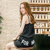 仿真絲睡衣 女士夏季新款短款性感吊帶睡衣套裝《小師妹》yf752