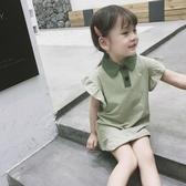 女童T恤 2020女童夏季半袖童裝中長款polo衫兒童休閒上衣短袖洋氣T恤【快速出貨】