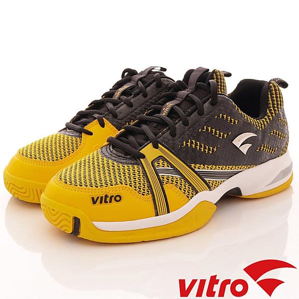 【VITRO】韓國專業運動鞋-TIGER KNIT系列頂級專業網球鞋-黑黃(男)