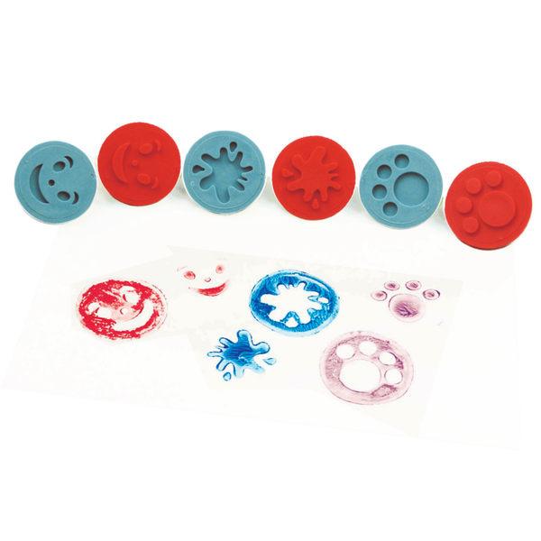 拓印章-微笑手腳 兒童幼兒教具教學道具彩繪著色畫圖用具親子同樂綜合活動藝術與人文