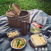柳藤編 手提籃野餐籃 購物籃水果菜籃子收納禮品籃 有蓋手提籃 全館免運