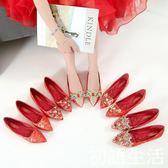 婚鞋婚鞋女新款冬季紅色平底結婚鞋中式敬酒秀禾鞋新娘紅鞋孕婦鞋 初語生活