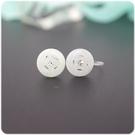 耳環 水鑽 玉系列 - 財富 透明耳針/耳夾 (單只價) i917ღ