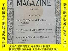 二手書博民逛書店National罕見Geographic July 1920 國