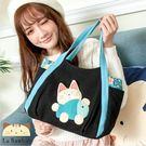 側背包~啵啵貓日系貓咪包 懶懶啵啵貓側背包/肩背包/手提包/拼布包包