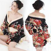 和服睡衣女夏性感睡衣日本和服櫻花情趣內衣透視情調衣人誘惑制服套裝睡裙  朵拉朵衣櫥