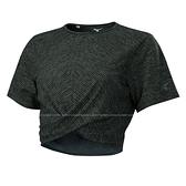 (C3) MIZUNO 美津濃 女款 瑜珈 短袖T恤 運動上衣 K2TA120209黑灰 [陽光樂活]