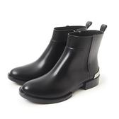 Petite Jolie  簡約時尚金屬短靴-黑色