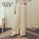 Queen Shop【04101381】高腰落地鬆緊寬褲 兩色售 S/M/L*現+預*