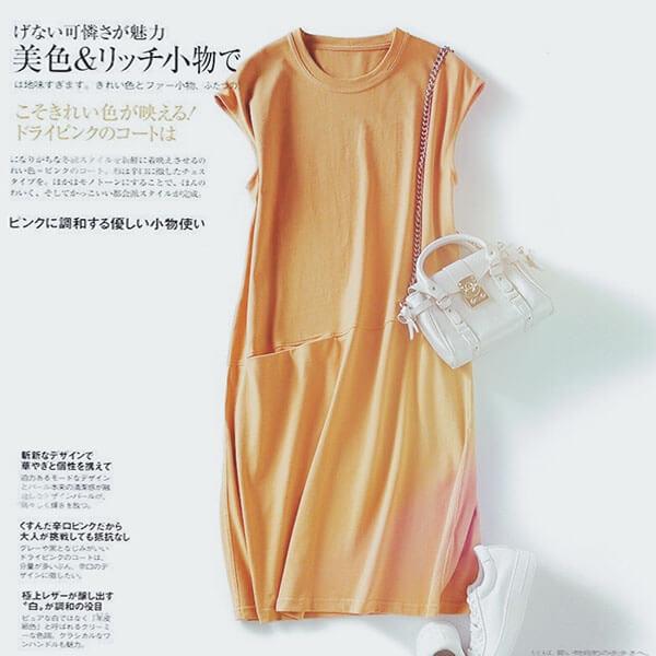 顯瘦版型雙口袋素色洋裝-中大尺碼 獨具衣格 J3661