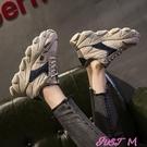 網紅老爹鞋女潮新款韓版百搭鬆糕厚底休閒運動智熏鞋春季新品