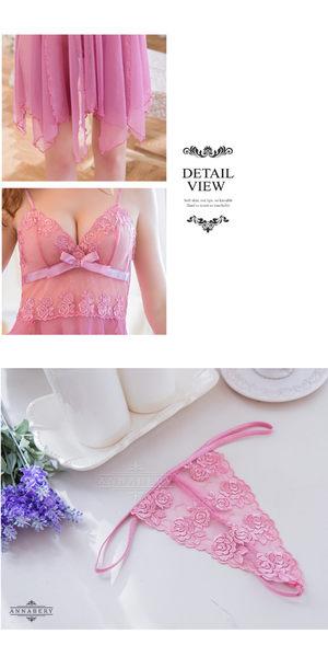 【中大尺碼睡衣】紫藕不規則裙襬二件式薄紗性感睡衣 星光密碼V050