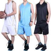 夏季男士無袖運動套裝寬鬆速干背心短褲籃球服休閒大碼健身跑步服【尾牙交換禮物】